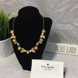 Kate Spade Lavish Blooms Floral Necklace NWT